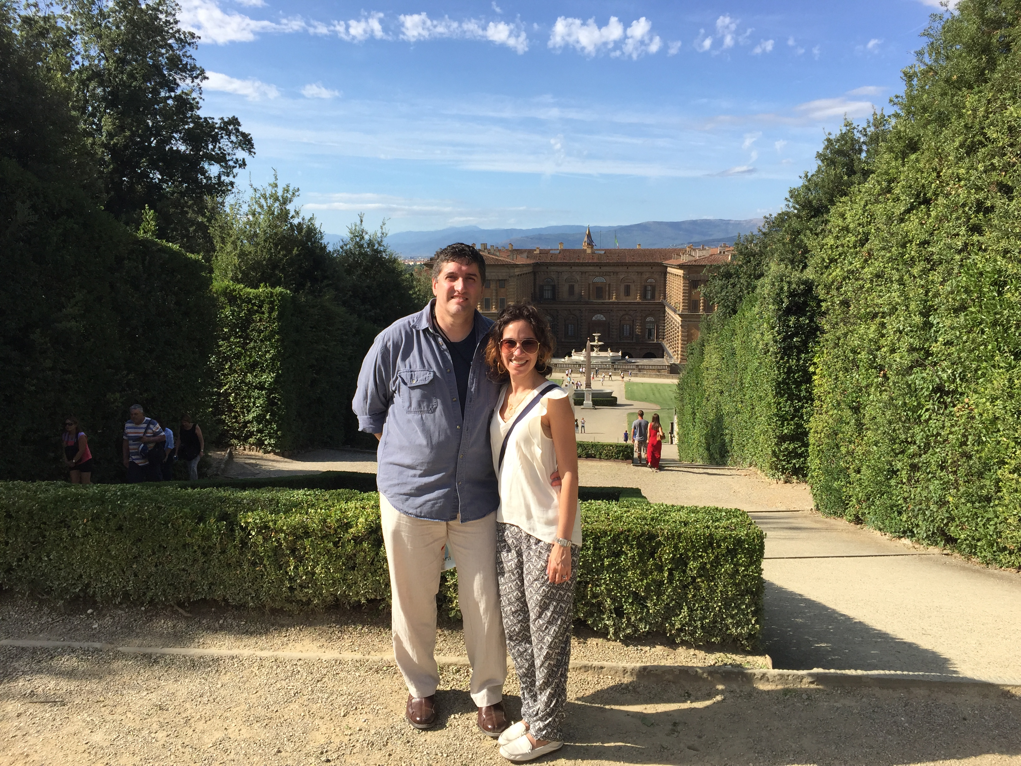 Boboli Gardens with the Palazzo Pitti in the background
