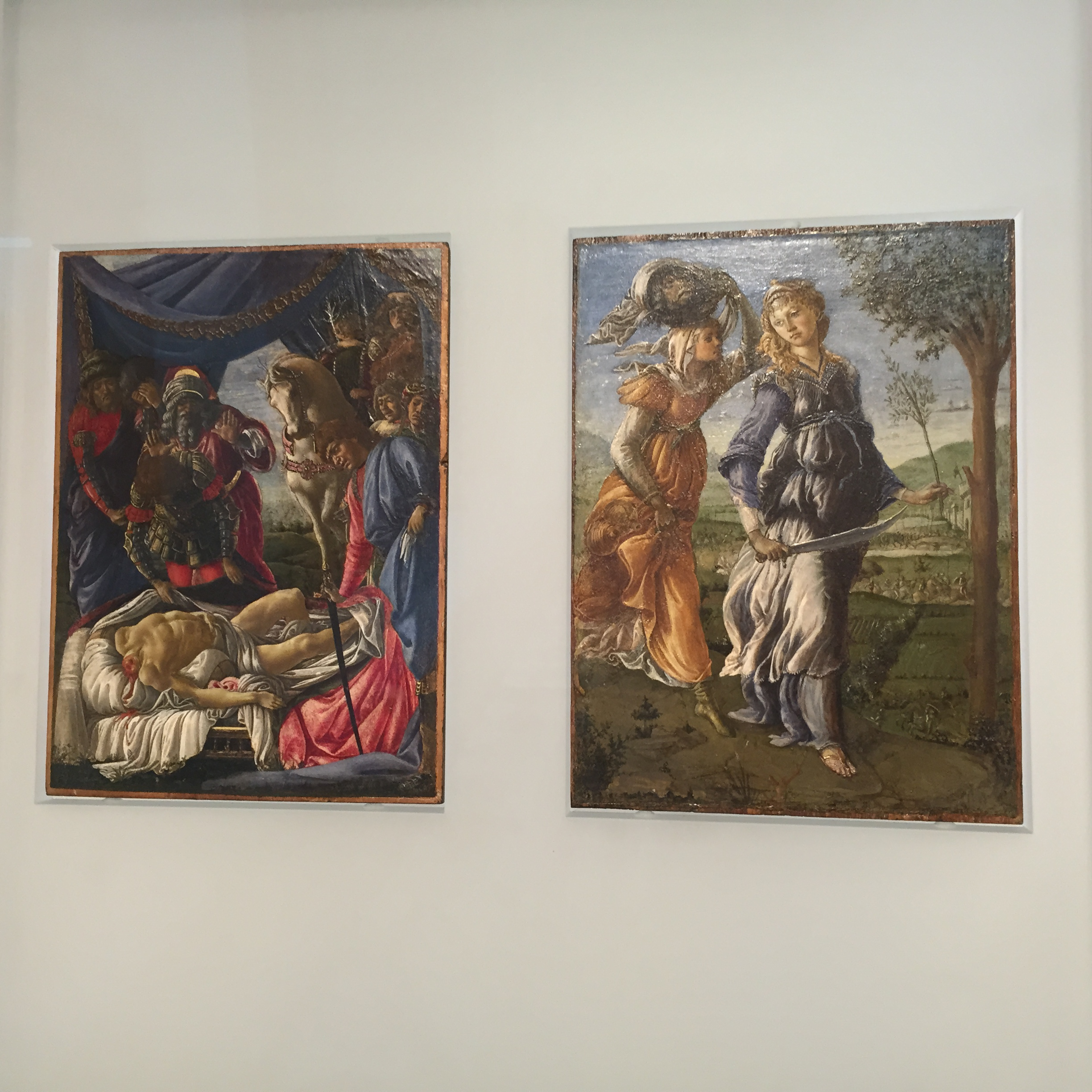 Botticelli's two part 'Return of Judith to Bethulia'