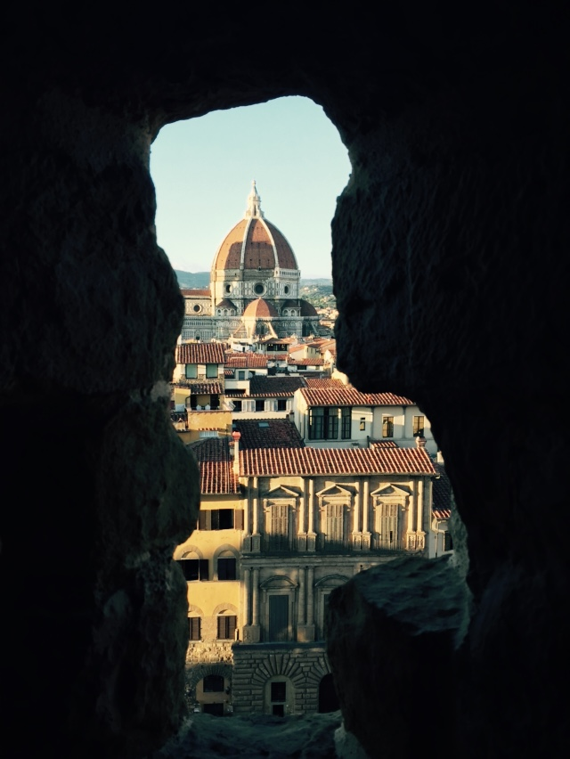 View of the Duomo from the battlements of the Palazzo Vecchio