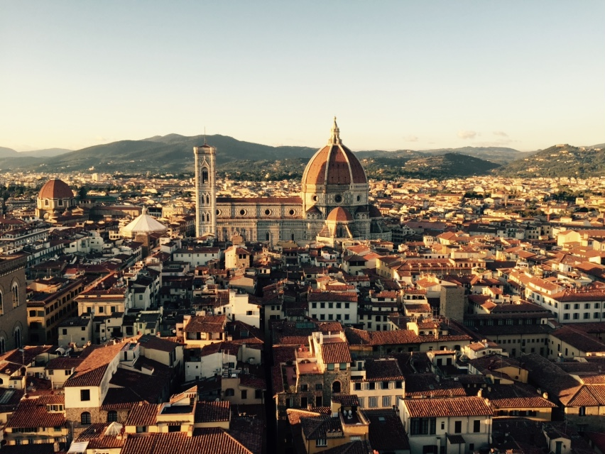 View of the center of Florence from atop the Palazzo Vecchio tower