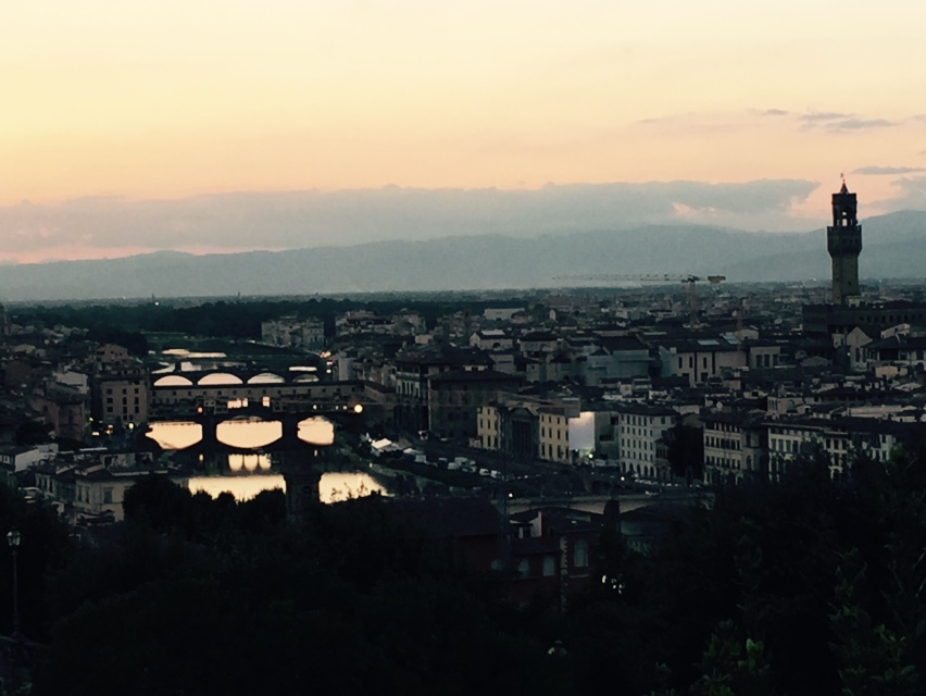 Twilight over Florence