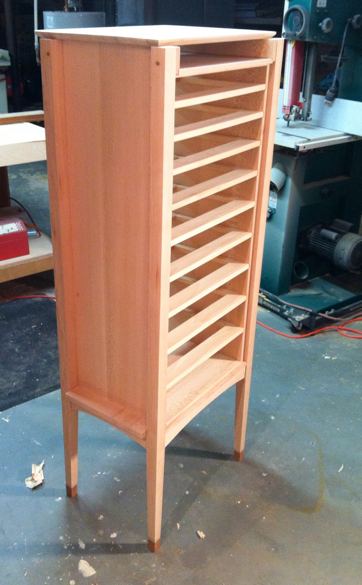 Rear view after the case glue-up. I'm starting to like her lines.
