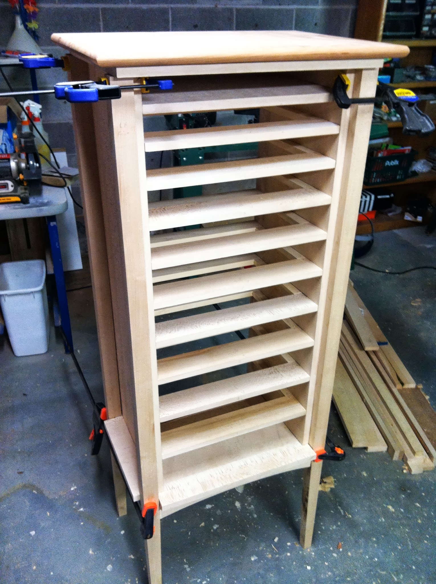 Adri's cabinet with web frame dry fit