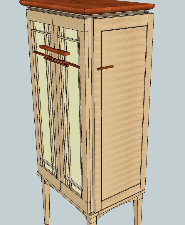 Side doors in the Rev 17 Sketchup file - simple and clean