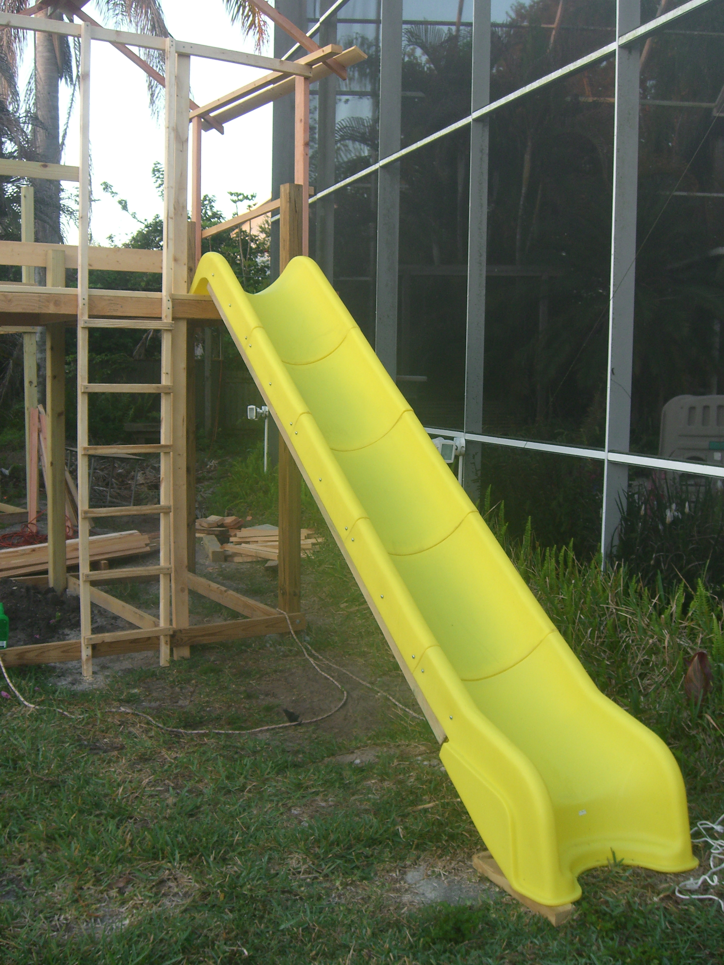 Got a good deal on the slide from an internet playset hardware supplier. It was slightly 'damaged'. I could find nothing wrong with it.
