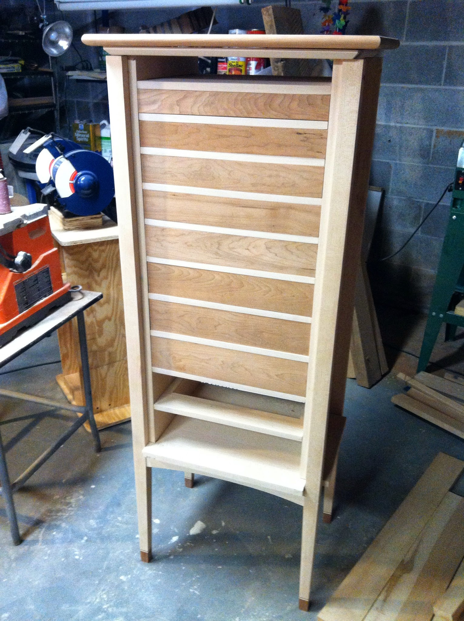 Front view as of April 7, 2014 - eight drawers done