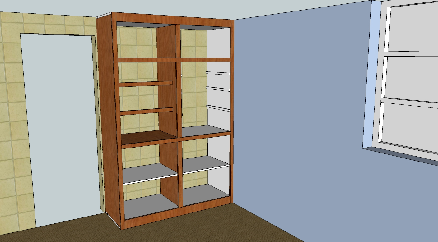 Sketchup model of Rev 1C case with face frame