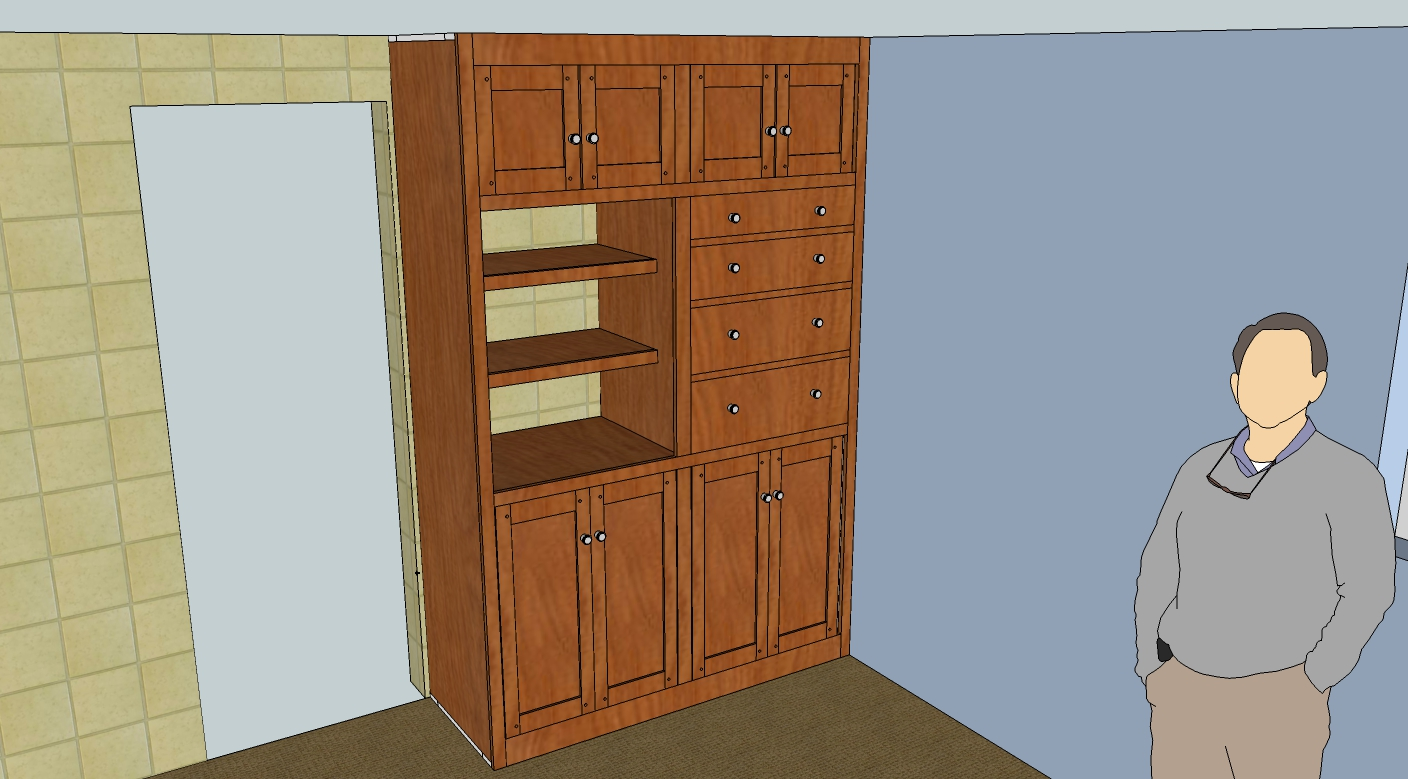 Sketchup model of entire Rev 1C cabinet