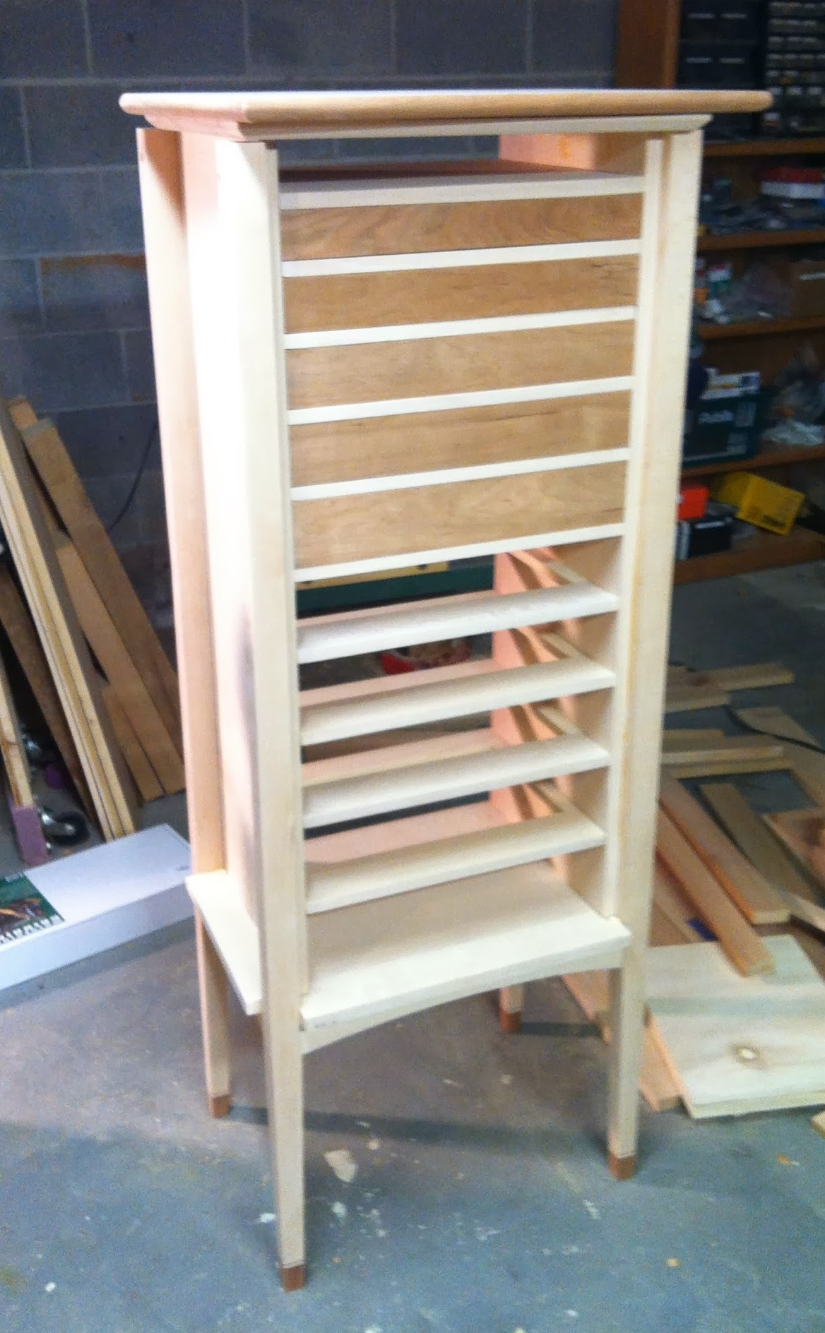 Cabinet with five drawers fitted