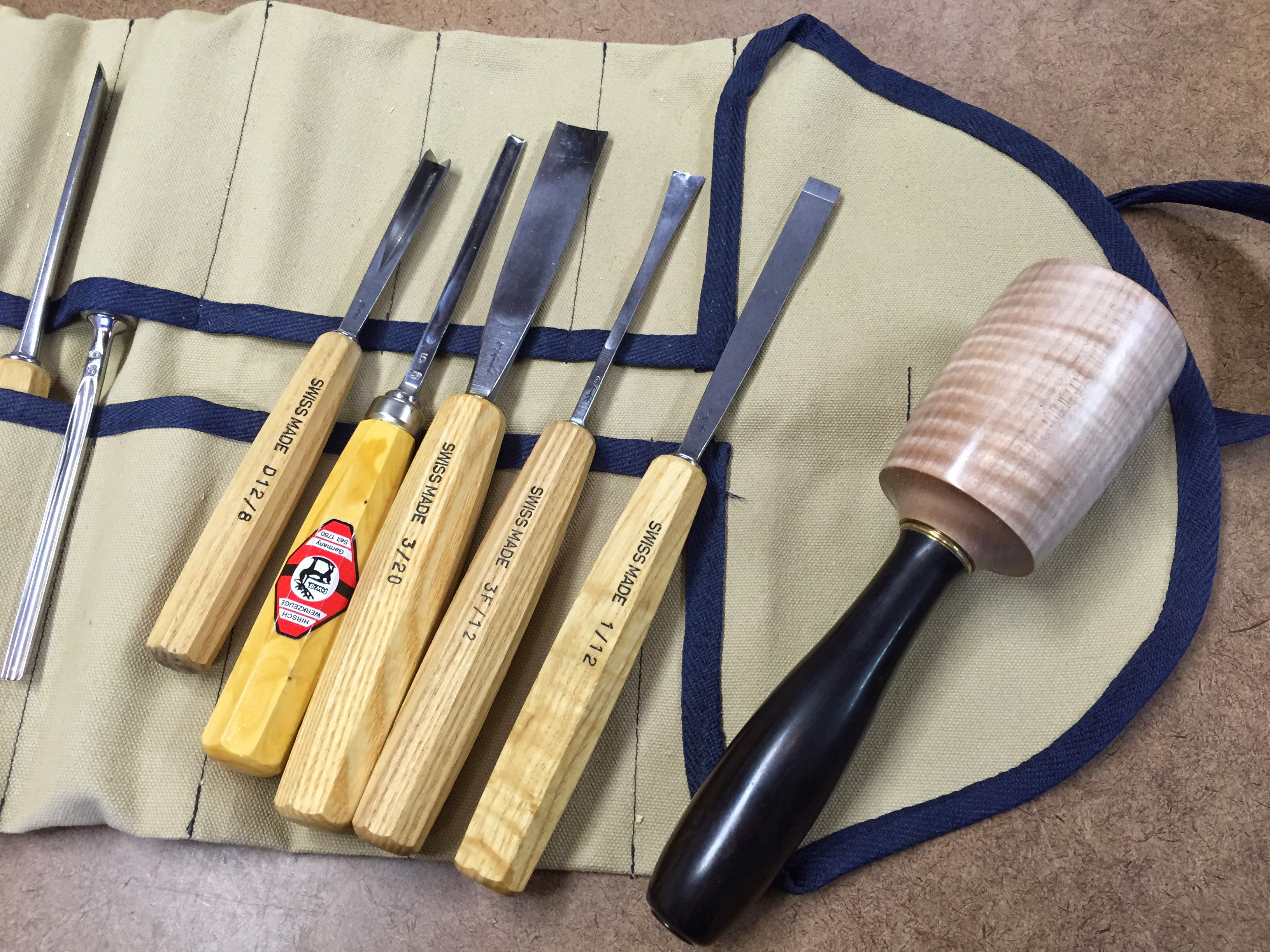 Primarily used these 5 tools and the mallet