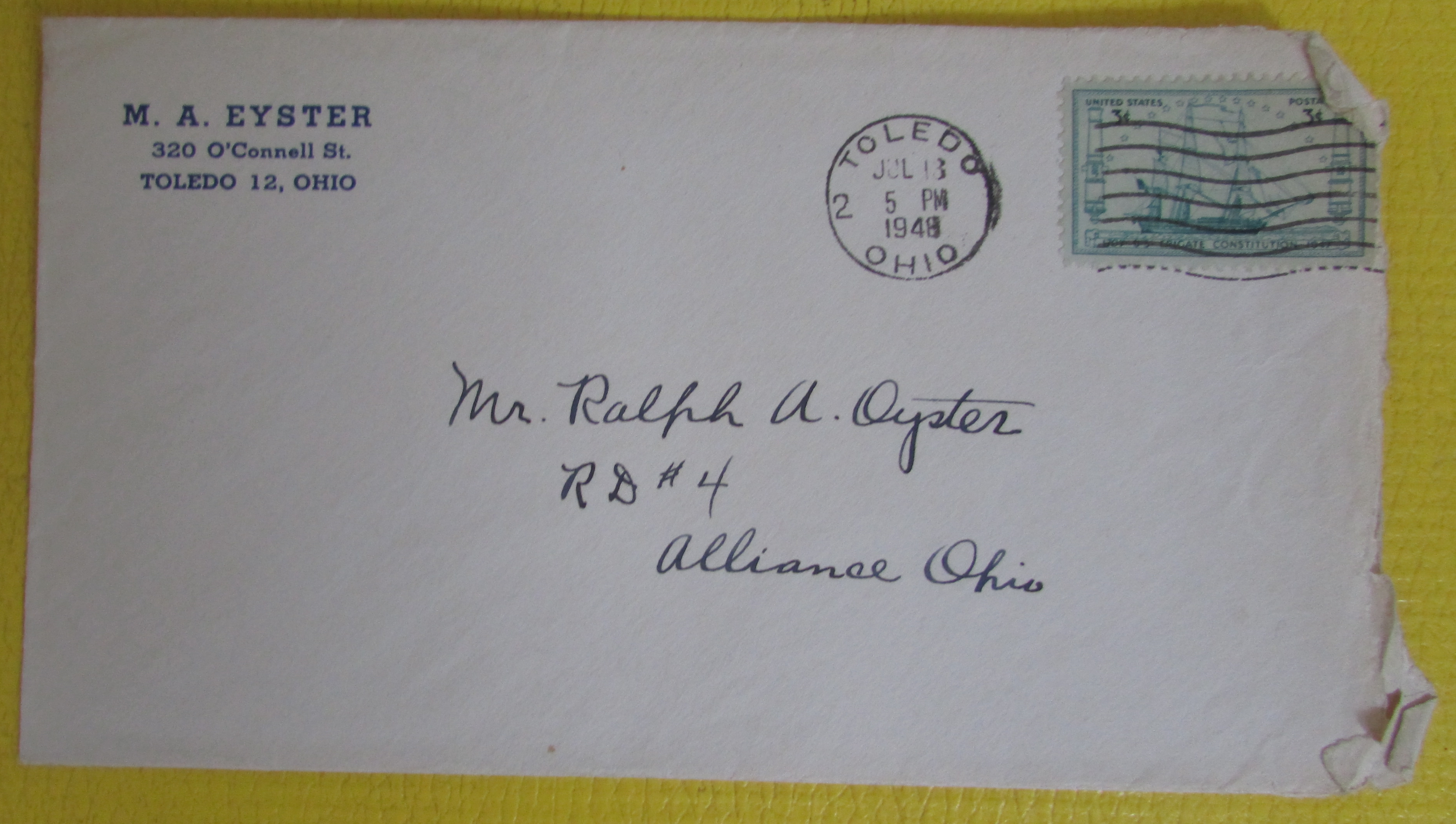 Envelope from 1948 letter