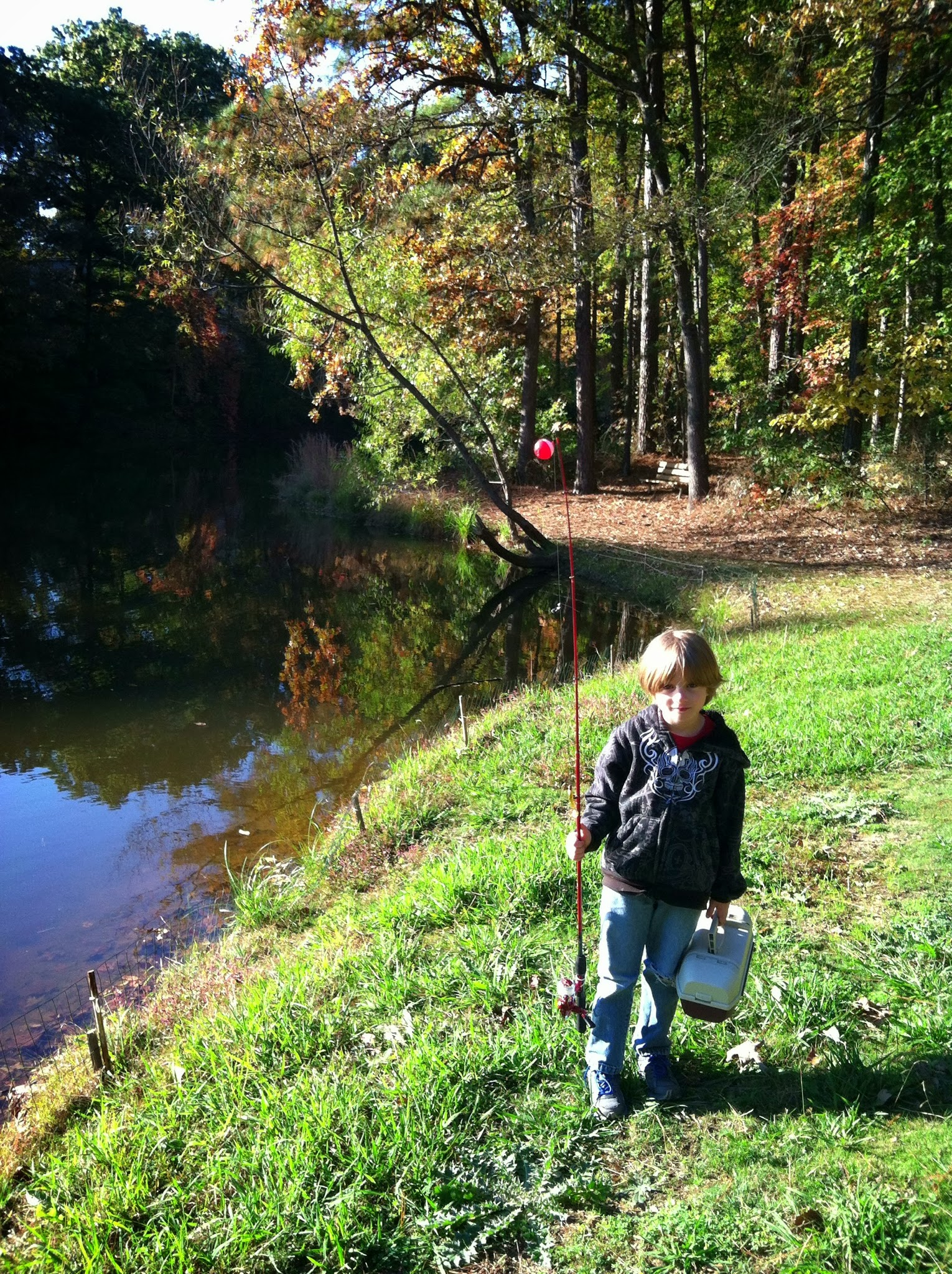 After the tool box, we went fishing -- also something we're learning together