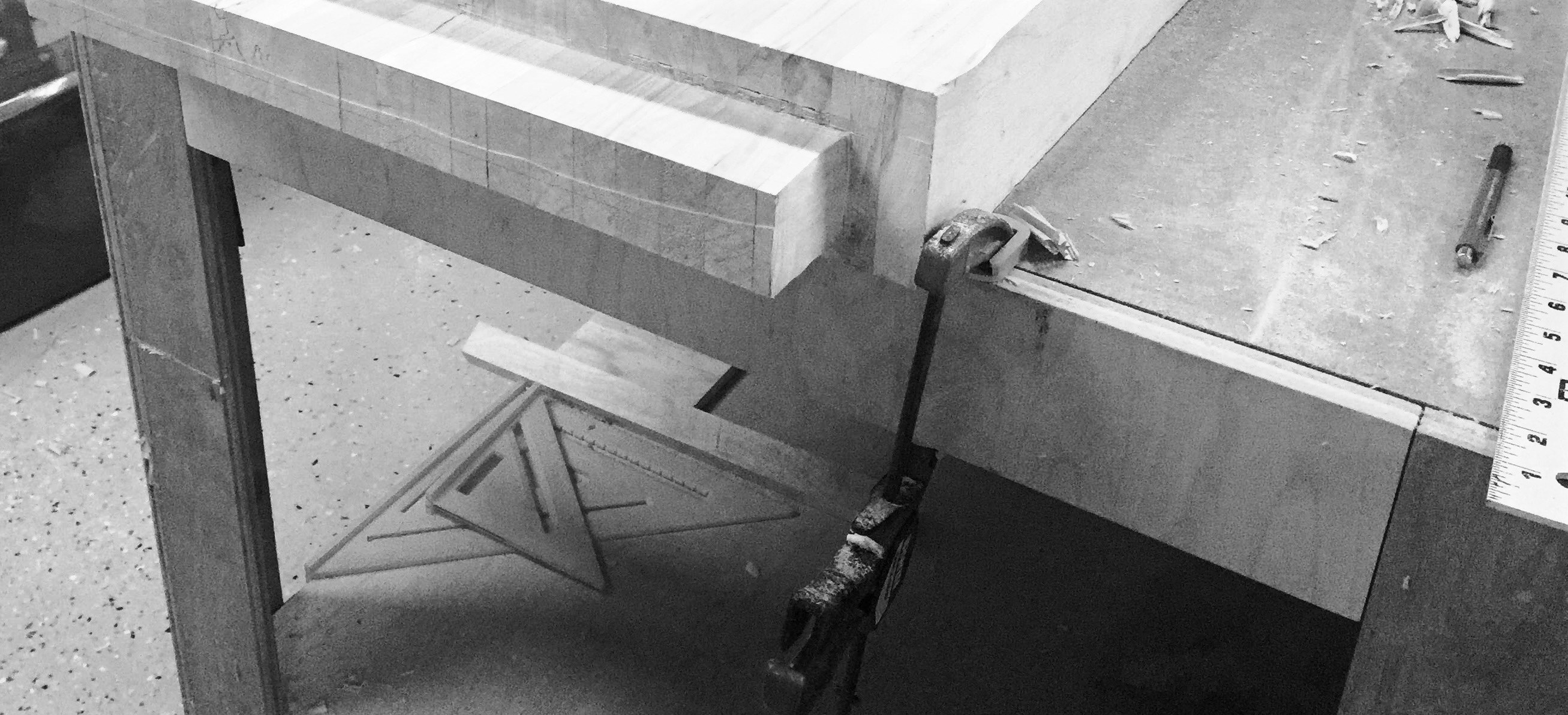 Cutting the tenon on my newly liberated outfeed table