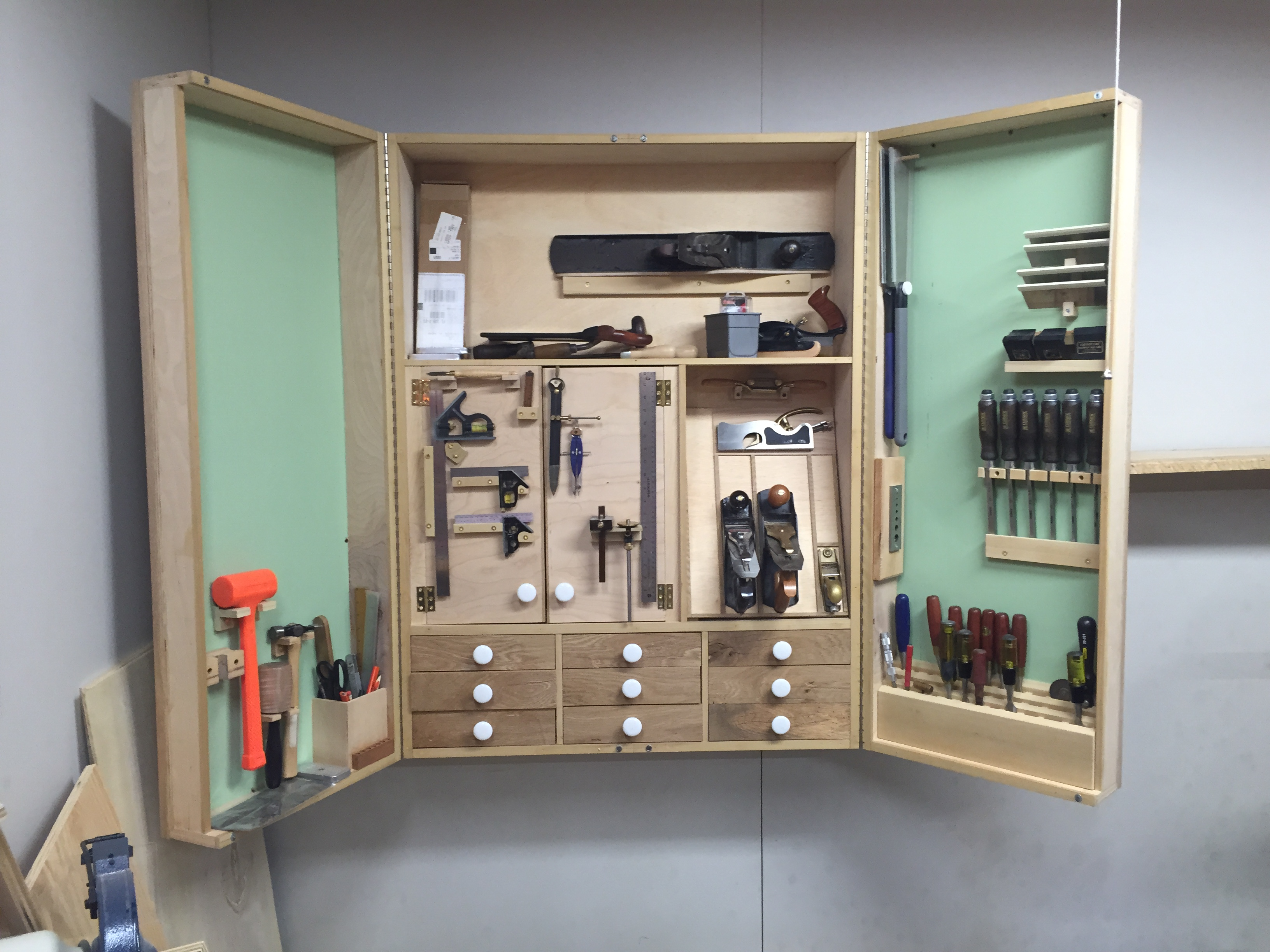 Tool cabinet up and being used in Roswell shop #2