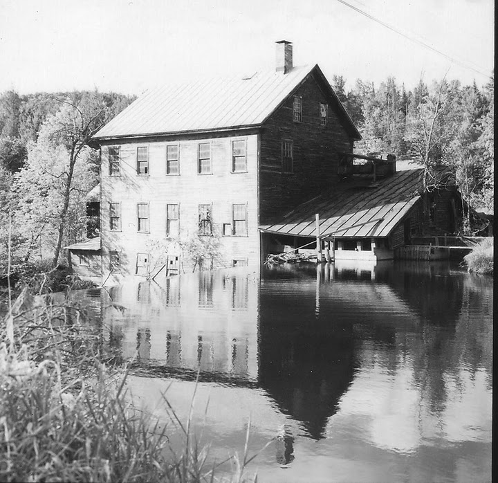 Ben's Mill prior to restoration work, as it was in the 1970s