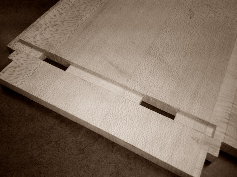 Case bottom - mortise and dado detail