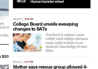 CBS Article blurb from their website, 3/6/2014