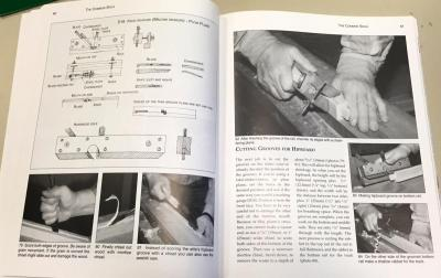 An example page showing Mr. Odate's wonderful text, Laure Olender's photos, and the nice line drawings detailing tools