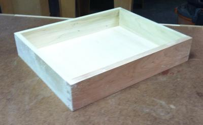 Drawer #5 dry fit in the middle of sizing it to fit the case