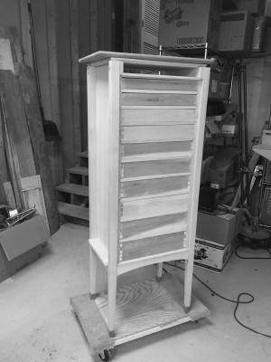 The rear of the cabinet before installing the back
