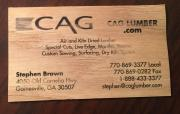 CAGLumber business cards