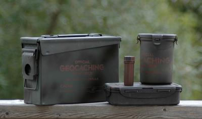 Some examples of geocache containers
