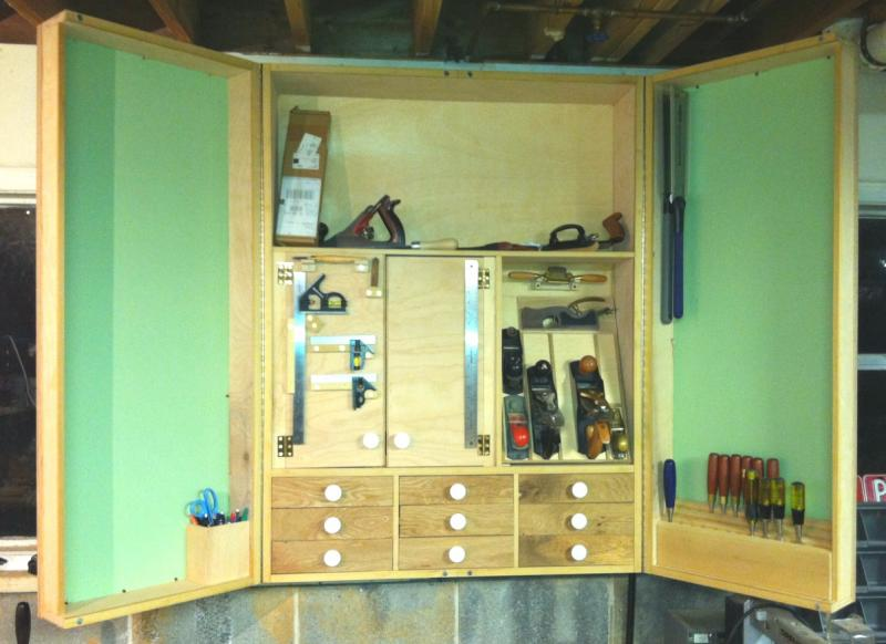 Tool Cabinet Inside With Half Of Brackets Done
