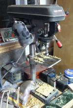 "Benchtop drill press, 10"" Task Force brand"