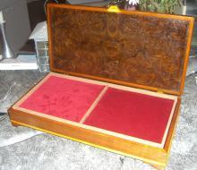 Jewelry box in cherry, maple, and walnut veneer