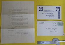 1948 letter from M.A. Eyster to Ruth Oyster