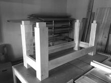 Completed fitting stretchers to the legs