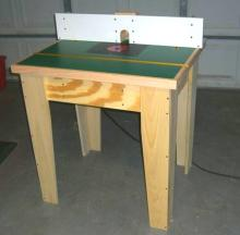 Completed rock solid router table