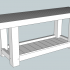 Basic proportions of the intended roubo workbench