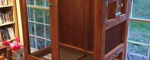 "Finch aviary built out of construction lumber and 1/4"" sheet plywood"