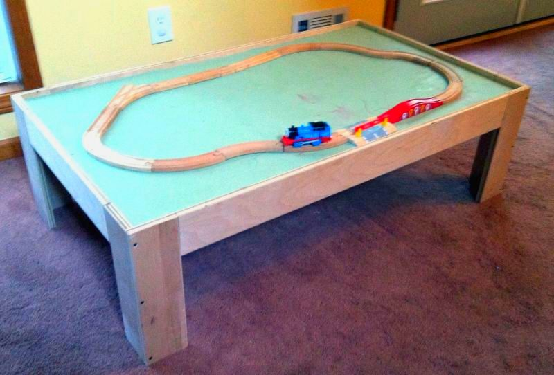 Lucas table for playing with Thomas the Tank Engine trains